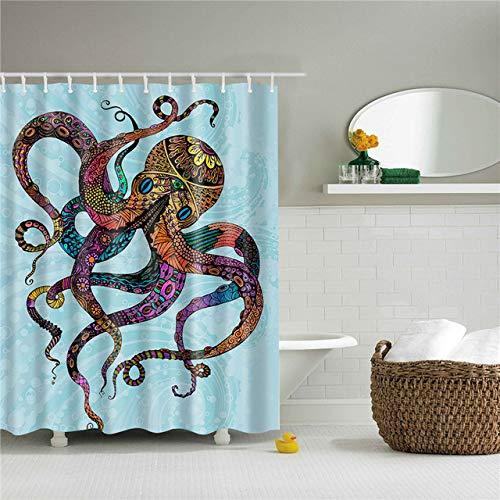 Deirdre Agnes Badkamergordijn badkamer gordijn waterdicht doek scherm woondecoratie met ophangring 90 x 180cm