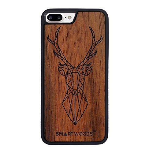 SMARTWOODS Deer Active Schützhülle für iPhone 7/8 Plus, Holzcase für Smartphone, Handyhülle, Schutzhülle aus Holz für Samsung, ökologisch, naturnah & original