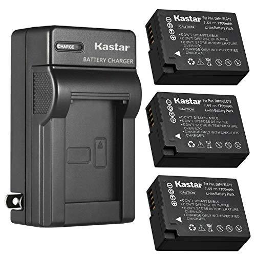 Kastar 3-Pack Battery and AC Wall Charger Replacement for Panasonic Lumix DMC-FZ1000 FZ1000, Lumix DMC-FZ1000 II FZ1000II, Lumix DMC-FZ2000 FZ2000, Lumix DMC-FZ2500 FZ2500, Lumix DMC-G5 DMC-G5K -  NOCAR-3B-BLC12-C