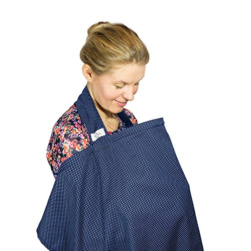 Loving Mum Nursing Cover, Breastfeeding Top - Blue