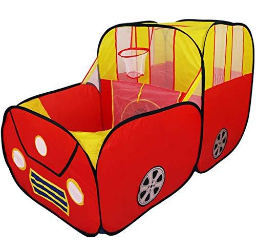 Speeltent voor kinderen, ballenbak voor tent, opvouwbaar avonturenstation in auto-stijl met basketbalring, buitenspelhuis/speelslang, cadeaus voor kinderen, meisjes, jongens