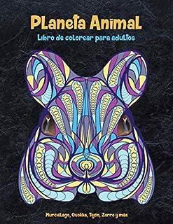 Planeta Animal - Libro de colorear para adultos - Murciélago, Quokka, Tejón, Zorro y más.  🐾