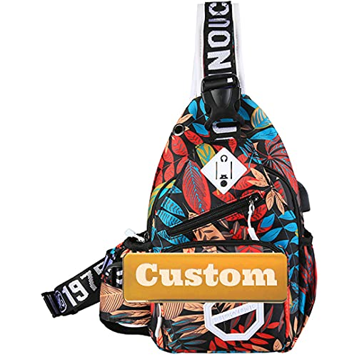 TCross Nombre Personalizado Carry On Lightweight Casual Canvas Rucksack Mochila Mujer Travel Daypack (Color : Micia, Size : One Size)