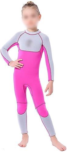 FELICIPP Costume de plongée pour Les Enfants 3MM Femmes Maillots de Bain Chaud Filles Chaudes plongée sous-Marine Costume de Surf Solaire