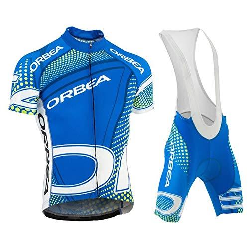 Conjunto Ciclismo Verano Traje Bicicleta Hombre Maillot MTB Corta + Culotes 3D Gel Equipos Ropa Ciclismo Hombre