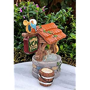gift craft miniature fountain of youth wishing well for home decor fairy garden or terrarium