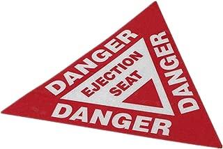 Horayten Car Styling Decals Warning Danger Ejection Seat Auto Truck Decorate Sticker Waterproof 100x87mm