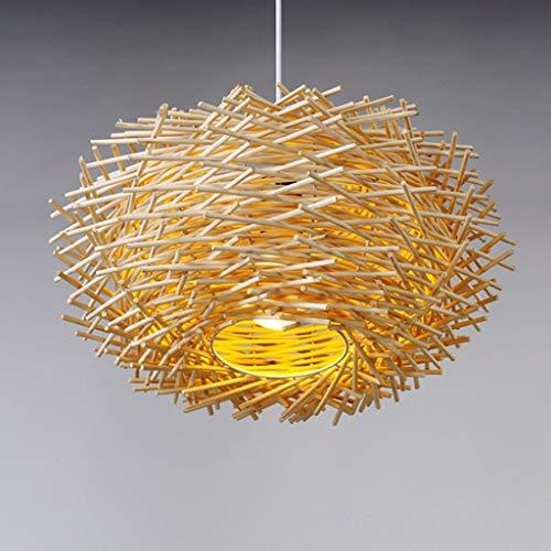 JIN Útil Araña Moderna Individualidad Creativa Liderado Luces de Ratán Terraza Comedor Dormitorio Retro Lámpara Colgante Lámpara,Blanco,Grande