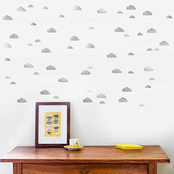 Cloud Wall Decal 2 Sizes Silver Cloud Wall Sticker For Room Kids Room Decoration Ins Hot
