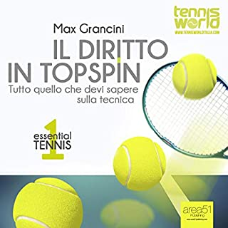 Essential Tennis 1: Il diritto in topspin     Tutto quello che devi sapere sulla tecnica              Di:                                                                                                                                 Max Grancini                               Letto da:                                                                                                                                 Lorenzo Visi                      Durata:  38 min     4 recensioni     Totali 3,3