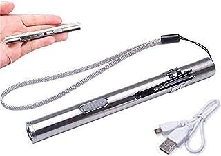 5 قطع من جاربيرييل LED USB قلم إضاءة صغير تشخيصي طبي القلم ضوء، مقاوم للماء قابل لإعادة الشحن من الفولاذ المقاوم للصدأ مع ...