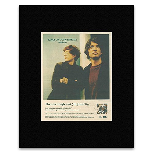 KINGS OF CONVENIENCE - Misread Matted Mini Poster - 13.5x10cm