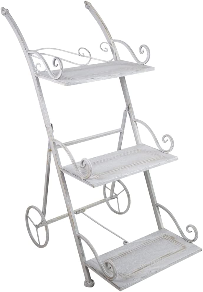 Jeco ODPS007 Tampa Mall price Orchies 3-Tiered Plant Metal Round Stand