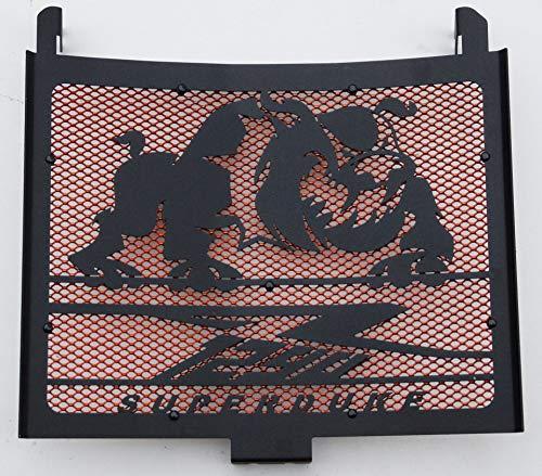 Cache radiateur/Grille de radiateur 1290 R Superduke Tous modèles Noir satiné Bulldog + Grillage Orange