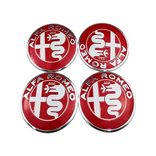 4 Piezas Tapacubos, para 56mm Alfa Romeo Peugeot 307 Tapas Centrales Rueda Coche Decoració