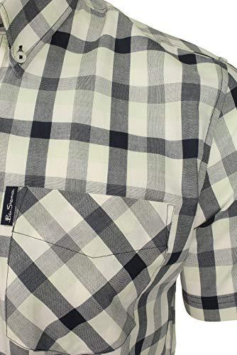 Ben Sherman Mens Check Shirt - Short Sleeved (Dark Navy) XL