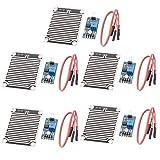 Hailege 5pcs LM393 Rain Drops Sensor Weather Moisture Monitor Sensor Humidity Sensitivity Module Nickeled Plate 3.3-5V for Arduino