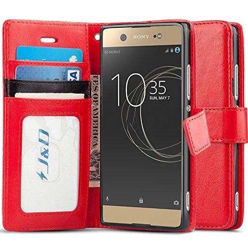 J&D Compatible para Xperia XA1 Ultra Funda, [Protección de Cartera] [Soporte Plegable] Funda Pesada Resistentes Billetera para Sony Xperia XA1 Ultra Funda Cuero - [No para Sony XA1 Plus/Sony XA1]
