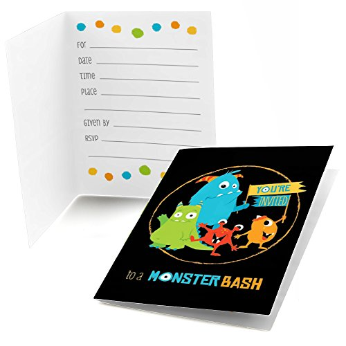 monster baby shower invitations - 3