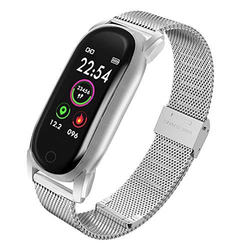 QKA Intelligente Frauen, Armband Bluetooth 5.0 Herzfrequenz Blutdruckmonitor, IP67 Wasserdicht, Menstruationserinnerung, Musikkontrolle,D