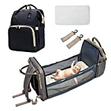 Portable Diaper Bag Bassinet for Baby, Multifunctional Baby Backpack Foldable Cot Bed Lightweight