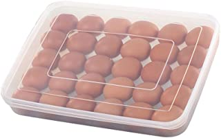 Xiazhi Plastic Egg Tray Holder with Lid, Refrigerator Storage Container,30 Eggs,Pack of 2