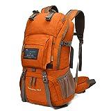マウンテントップ(Mountaintop) アウトドア バックパック 登山リュック 40L 大容量 リュックサック 登山用バッグ ハイキングバッグ 防水 レインカバー付き (オレンジ40L)