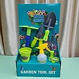 LTLCBB Attrezzi da Giardinaggio per Bambini, Set di Attrezzi da Giardinaggio per Bambini con Robusta Maniglia in Plastica (7pcs)