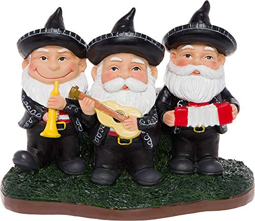 GreenLighting Mariachi Band Garden Gnome Outdoor Figurine - Hand Painted Funny Novelty Lawn Statue Decoration for Front Yards, Flowerbeds and Offices