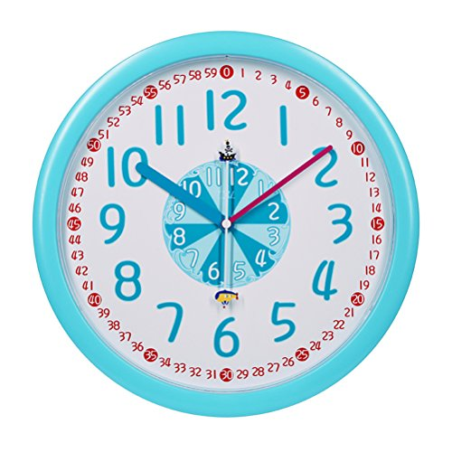 Horloge murale bleue Acctim 22529/Wickford Pour enfants