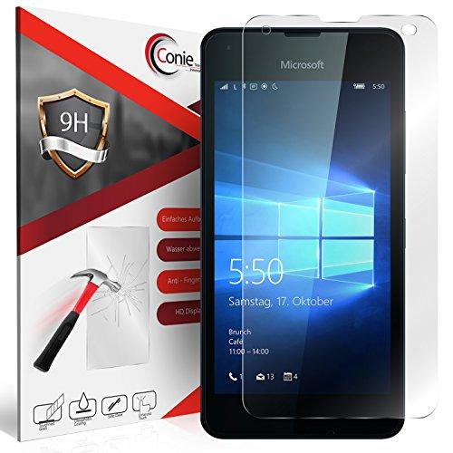 Conie 9H1978 9H Panzerfolie Kompatibel mit Microsoft Lumia 550, Panzerglas Glasfolie 9H Anti Öl Anti Fingerprint Schutzfolie für Lumia 550 Folie HD Clear