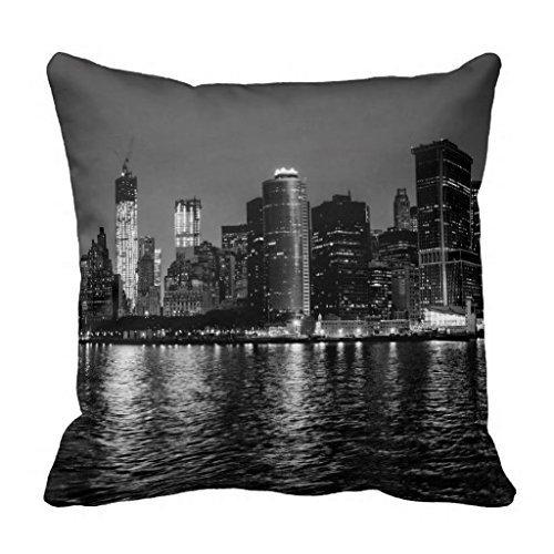 NicholasCGShopOnline C6287F Cotton Linen Decorative Throw Pillow Case Cushion Cover New York City Skyline 18 \