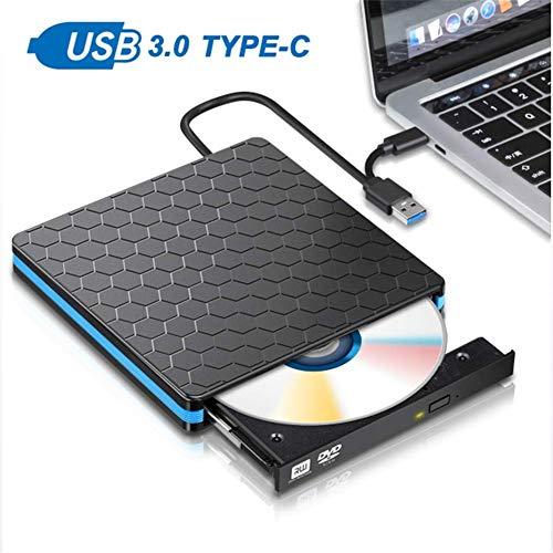 Externe cd-rom-drive, USB 3.0 cd-romspeler CD-RW-brander Schrijver-lezer Recorder Portatil, voor notebook-laptop zonder drive