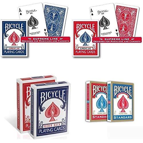 Bicycle. 6 mazzi di Carte : 2 Standard + 2 Supreme Line + 2 Old Case