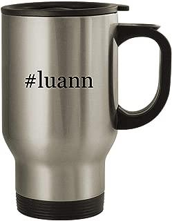 #luann - Stainless Steel Hashtag 14oz Travel Mug, Silver