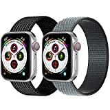 Nylon Loop Bands Compatible with Apple Watch Bands 44mm 42mm Sport Band Compatible with Apple Watch Series 6 5 4 3 2 1 SE