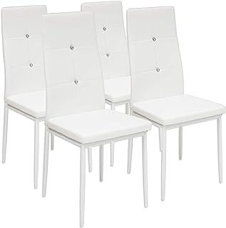 Albatros 3095 Diamond Set de 4 sillas de Comedor Blanco SGS Tested