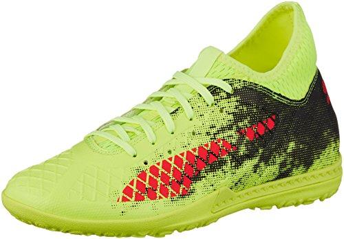 Puma Herren Future 18.3 TT Fußballschuhe, Gelb (Fizzy Yellow-Red Blast Black), 40 EU