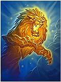 GHYU 6000 Piezas de Rompecabezas de Madera, león rugiente, Rompecabezas de Madera para Adultos, niños, Juguetes de Rompecabezas, Juegos Familiares, Arte DIY, decoración del hogar