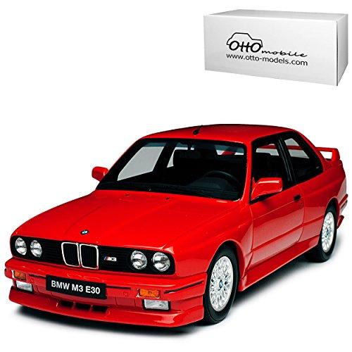 B-M-W 3er E30 M3 Coupe Rot 1982-1994 Nr 695 1/18 Otto Mobile Modell Auto mit individiuellem Wunschkennzeichen