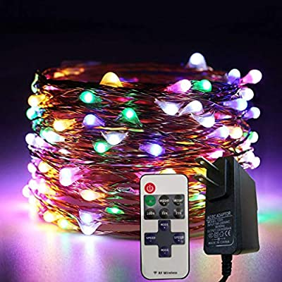Amazon - Save 80%: LED String Lights, 50 LEDs Plug in Copper Wire 3 Modes Dimmable Fairy Lights with…