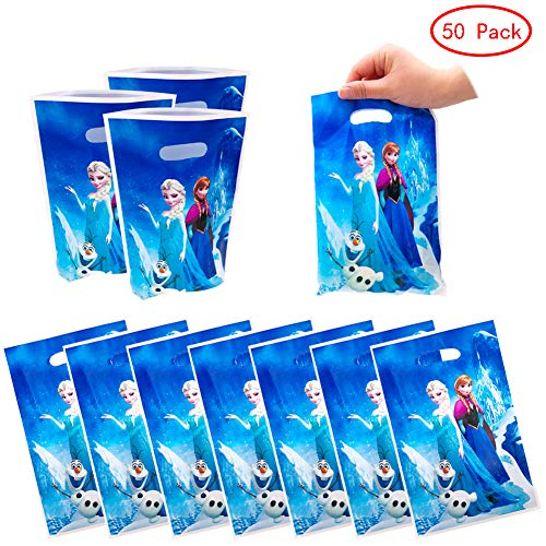 6 Disney Princess Storybook Children/'s Party Favour Gift Plastic Loot Bags