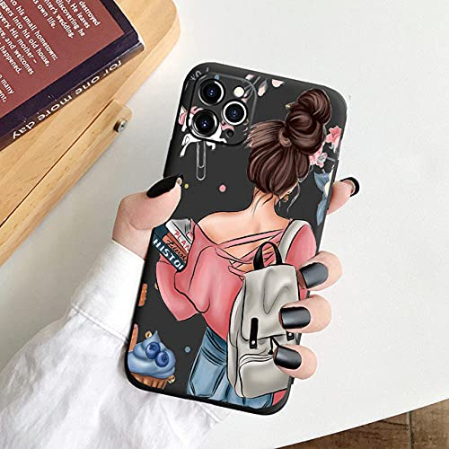 Fashion Family Candy Phone Case para iPhone 11 SE 2020 Super Mom Baby Girl para iPhone 12 Pro MAX X XS MAX XR 6 7 8 Plus, Black17, para iPhone 6 6s