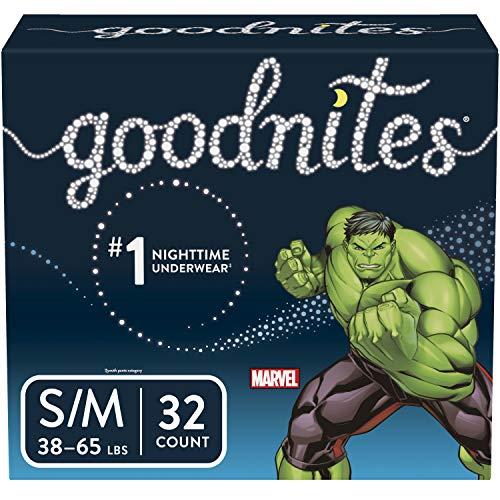 Goodnites, Boys Bedwetting Underwear, Small/Medium, 32 Count