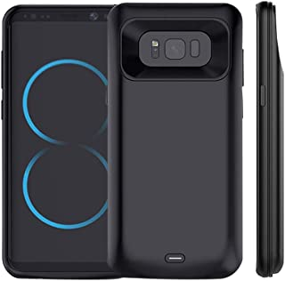 Idealforce Galaxy S8 Plus Battery Case,5500mAh External Power Bank Cover Portable Charger Case for 6.2 Inch Samsung Galaxy S8 Plus (Black)