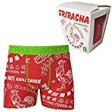 Sriracha Hot Chili Sauce Boxer Briefs in Chinese Take Out Container (Small) Red