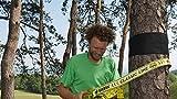 Gibbon Slacklines Treewear, Baumschutz, schwarzer Filz mit Klettverschluss mit gelbem Logo, Länge: 100 cm, Breite: 16 cm, Schutz für Band und Baum, S - 3