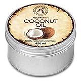 Aceite de Coco 450ml - Coco Nucifera - Indonesia - 100% Puro y Natural - Prensado en Frío - Mejores Beneficios para Cuidado del Cuerpo - Piel - Aceites Sin Refinar