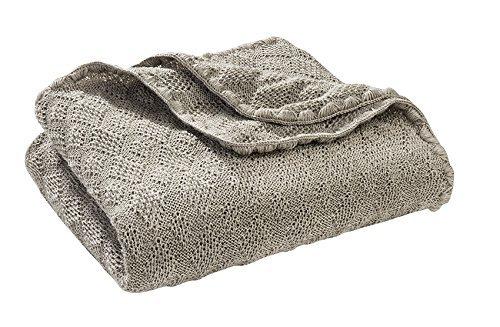 Disana Baby Wolldecke - Gestrickt aus 100% kbT Schurwolle, Größe 100x80cm Grau (grau)