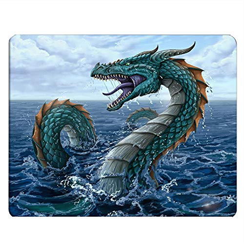 Nicokee Dragons Gaming Mousepad Sea Dragons and Fire Dragons Mouse Pad Mouse Mat for Computer Desk Laptop Office 9.5 X 7.9 Inch Non-Slip Rubber